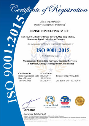 Inzinc Consulting Firm - FZ LLC,ISO Certification in UAE